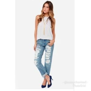 Women's Blank NYC Destroyed jeans size 26 *READ*
